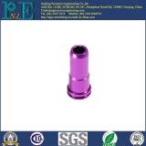 Tubo que fuma que trabaja a máquina modificado para requisitos particulares del CNC del aluminio