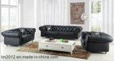 Sofá del cuero genuino de la sala de estar (SBO-2733)
