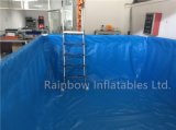 Piscinas portables materiales grandes del metal del marco de la piscina del PVC