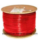 고속 CAT6에 의하여 보호되는 STP 대량 이더네트 케이블 305m 빨강
