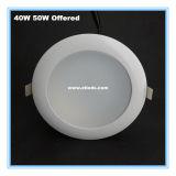 6inch la viruta de acrílico 80lm/W 40W LED de la cubierta SMD LED abajo se enciende