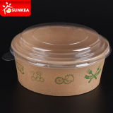 Kundenspezifisches Printed Disposable Paper Salad Bowl mit Lid