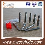 Capa plana HRC65 de Altin de las flautas del cortador 4 del molino de extremo del carburo