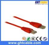 cable del remiendo de Al-Magnesio RJ45 UTP Cat5 del 1m/cuerda de remiendo