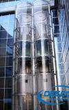 Elevador panorámico de la venta del edificio comercial estable caliente de la capacidad