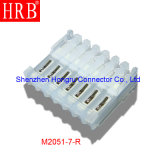 2.54 Nicken Natural Nylon Material IDC Connector mit Covers