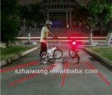 Света кабеля задего велосипеда безопасности лазера СИД