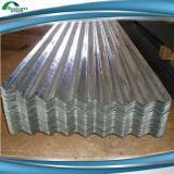Metal acanalado galvanizado cubriendo la hoja de acero