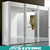 MDF van de melamine de Kast van de Schuifdeur van het Glas van de Garderobe (ais-W017)
