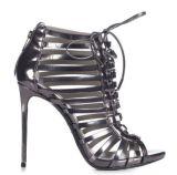 Ботинки женщин сандалий шнурка PU высокой пятки Fsshion нейтральные