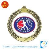 Qualität kundenspezifische Baseball-Medaille im Gold/im Silber/im Messing