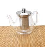 260/600/800ml Borosilicate Single Wall Teapot com Stainless Steel Cover
