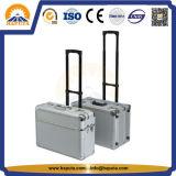 Caso di alluminio di /Trolley dei bagagli di imbarco pilota elegante (HP-3201)