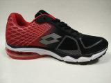 Chaussures de course en caoutchouc supérieures d'Outsole de coussin d'air de maille rouge noire