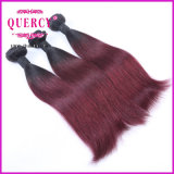 Omber Color Two Tone 1b Red Braziian Human Hair Weave Straight