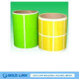 papel fluorescente de la película de papel auta-adhesivo de la escritura de la etiqueta 80g (FR002)