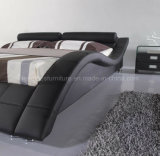 Deckel-modernes Möbel-Bett des Leder-A040