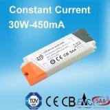 bloc d'alimentation continuel du courant DEL de 30W 450mA avec des CB SAA de la CE