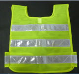 100%Polyester Mesh con Crystal Tape per Adult Safety Vest
