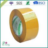 Amarillo/cinta del pegamento BOPP de Brown para el embalaje popular en mercado coreano