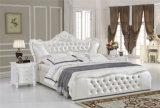 寝室のベッドの家具の柔らかい革ベッド