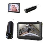 """Mini cámara sin hilos del examen de la alcantarilla 2.4GHz/del tubo/del endoscopio con 5 """" mini DVR (6 lámparas del LED, 520TVL, dentro del monitor de la li-batería, de la pantalla del LCD)"""