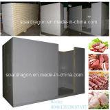 Le polyuréthane lambrisse la chambre froide d'entreposage au froid pour la viande et la volaille