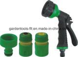 정원 수공구 물뿌리개 관개 분무 노즐 물분사 전자총