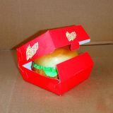 Eco-Gedruckter weißer Hamburger-Kasten/Salat-Kasten/Papiermahlzeit-Kasten