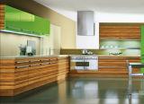 Foshan fêz a cozinha a mobília ajustar-se (com cor contínua e grão de madeira)