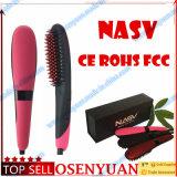 Ventas superiores 2 en 1 cepillo profesional de la enderezadora del pelo de Iroin