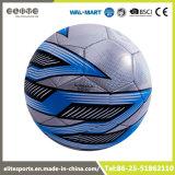 Esfera de futebol de couro prateada costurada máquina de EVA