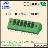 Ll2edgvm-3.5/3.81 Pluggable 끝 구획 PCB 연결관