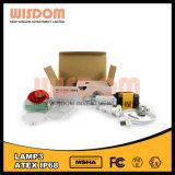 방수 IP68 12000lux 지혜 광부 Headlamp, 모자 램프