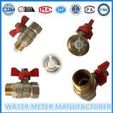 Tipo de cobre amarillo vávulas del control de bola para el contador del agua, Dn15-40mm