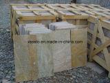 Mattonelle di pavimento di pietra arrugginite più poco costose dell'ardesia della Cina per pavimentare