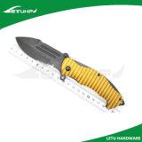 Безопасность золота анодированная алюминием складывая фиксируя карманный нож