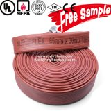 Mangueira flexível usada durável orientada para a exportação do incêndio da borracha de nitrilo de 3 polegadas