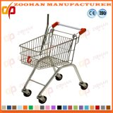 ワイヤー金属の子供の記憶装置のスーパーマーケットの買物車(Zht176)