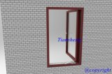 Einzelnes Glass Aluminum Casement Window für Commercial und Residential
