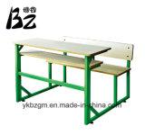 Einzelner hölzerner Schreibtisch-Plastikstuhl (BZ-0078)