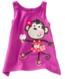 Panno morbido/vestiti francesi di sport del Terry Gilr in vestiti dei bambini, usura dei bambini (pullover coat+pant della chiusura lampo)