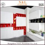 Gabinete de cozinha de vidro Moistureproof da porta da prateleira aberta da cor de N&L Mintcream
