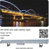 36W IP65 Highpower Outdoor LED 도시 Color Wall Washer