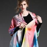 Шаль Sp2274-3 шарфа реального Silk печатание цифров шарфа сатинировки длинняя