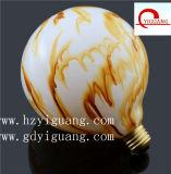 Bulbo impreso filamento colorido ahorro de energía de la decoración LED