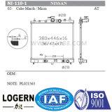 Radiateur en aluminium du véhicule Ni-110-1 pour le cube mars/Micra'02- en Nissans à