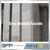 Telha Polished da pedra da fachada do granito para o revestimento da parede exterior na cor cinzenta