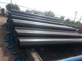 Tubulação de gás preta padrão do API 5L com extremidades chanfradas e os tampões plásticos