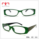 Signore Plastic Reading Glasses con Flower Pattern Paper Transfer (WRP409094)